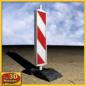 3d post barrier model