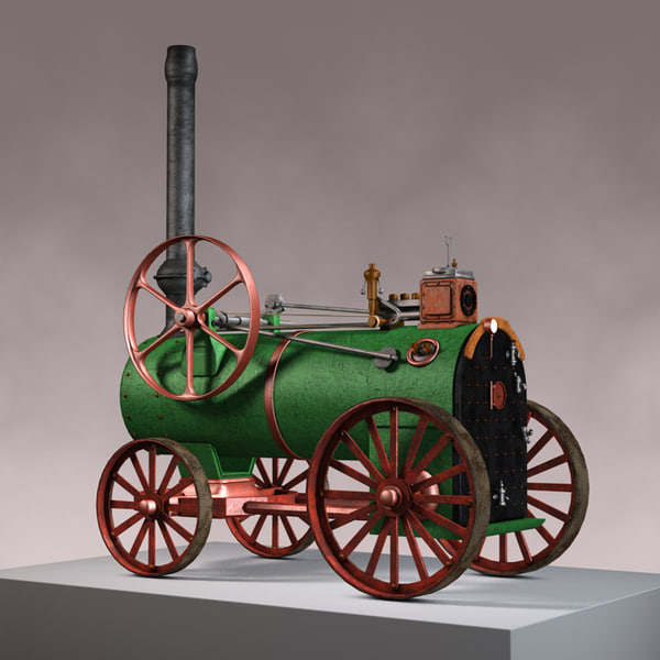 3ds max old locomotive