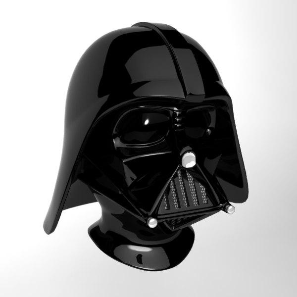 3d darth vader mask model
