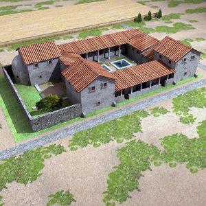 3d max roman villa rustica