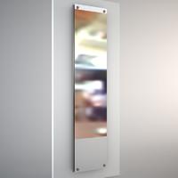 mirror heater chrome 3ds
