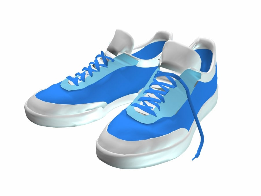 blue sneakers obj