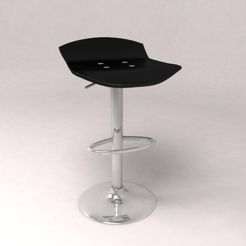 3d model stool chair barstool