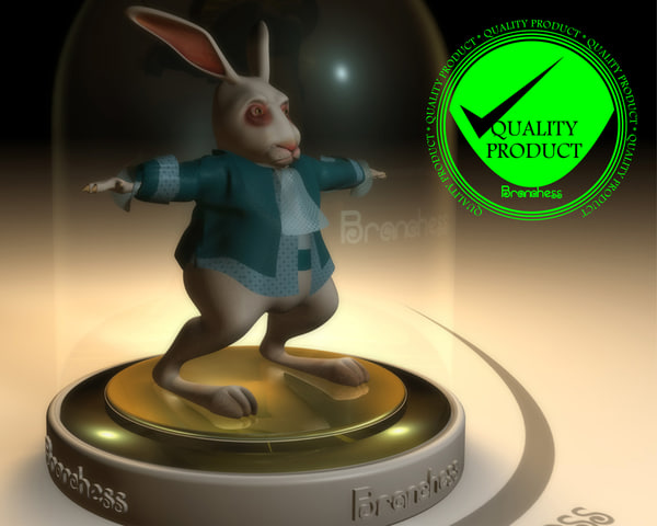3d model rabbit alice animation