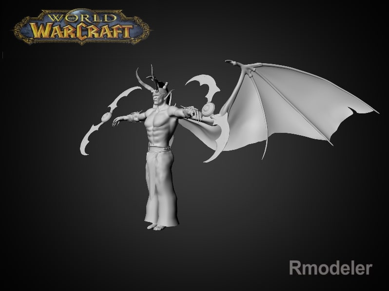 surface illidan 3d model