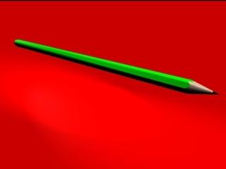 free pencil pen p 3d model
