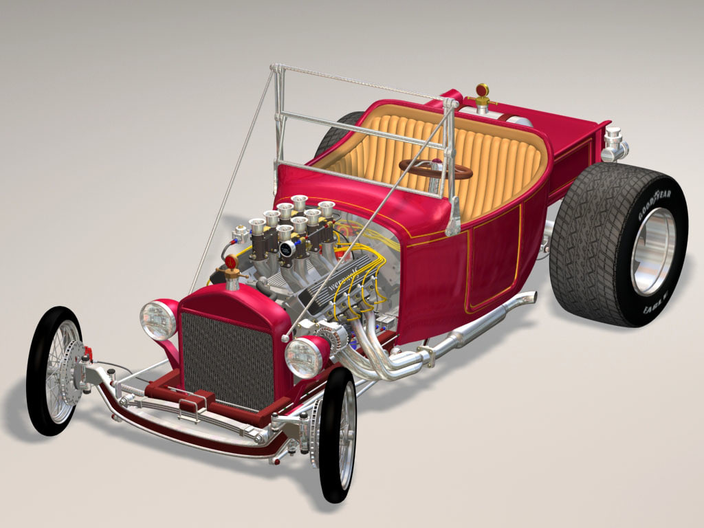 bucket truck hot rod 3d max