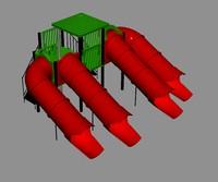 3d chute pool slide model