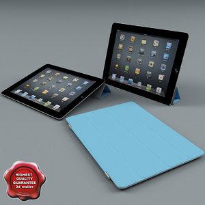 apple ipad2 smartcover 2 3d lwo