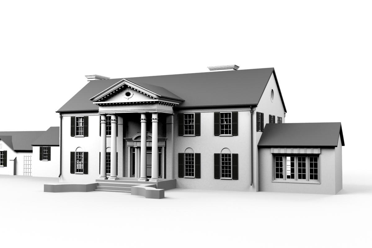 3d model elvis mansion