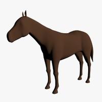 base horse 3d model