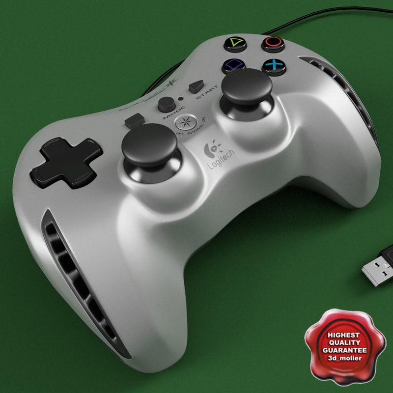 max joystick logitech grey