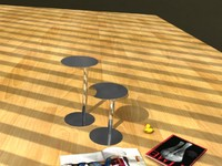 3d tables livingroom office model