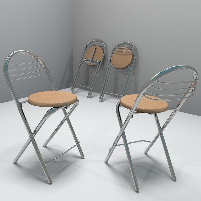 3d model kitchen stool