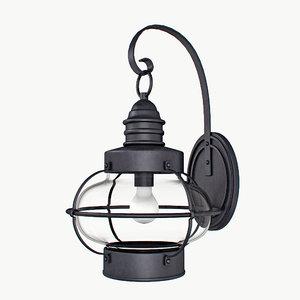 3d lantern light antique