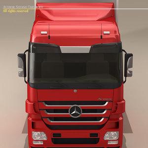 3d truck actros model