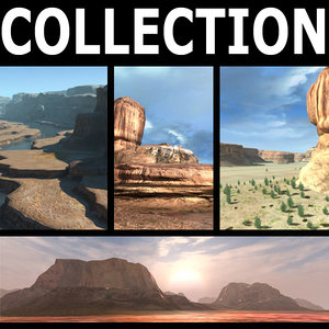 3d terrain landscape model