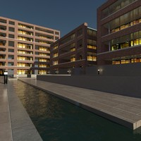 3d model courtyard design