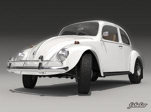 volkswagen beetle 1300 1963 c4d
