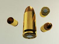 3d 9mm parabellum bullet model