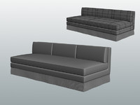 custom armless banquette