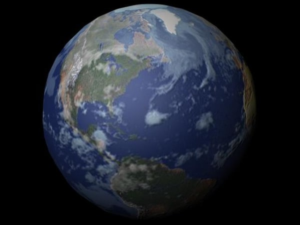 3d mapped rotating earth model