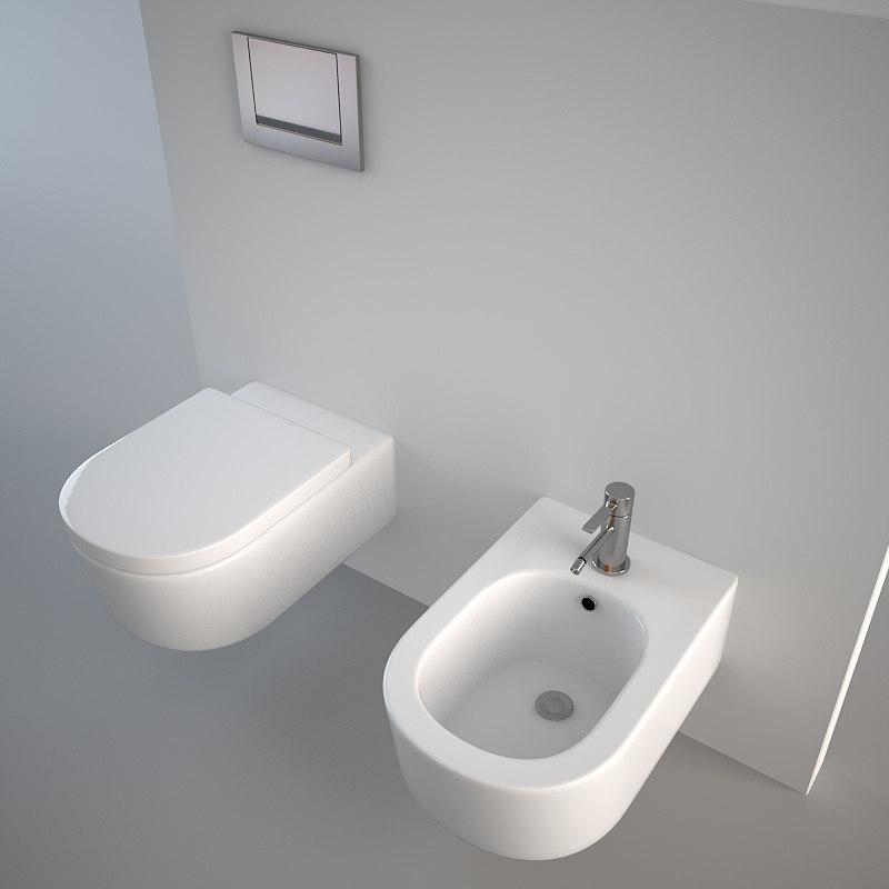 3d flaminia link toilet model