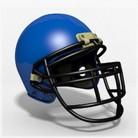 3d american football helmet model
