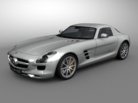 Mercedes SLS AMG - Textured  & Rigged