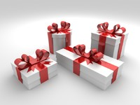 3d max gift boxes