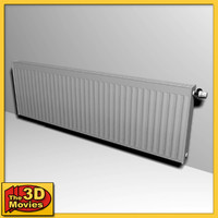 Large Low-Poly Heating Radiator