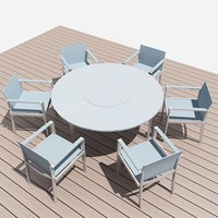 exterior table and 6 chairs