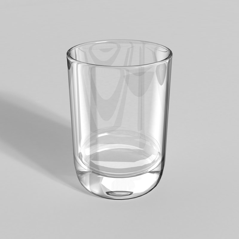 3d old fashion drink glass