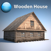 Old Wooden house village 3d model