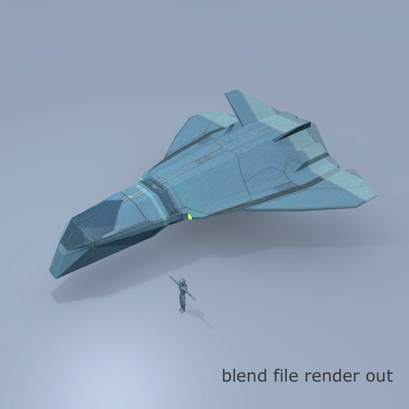 space spaceship 3d model