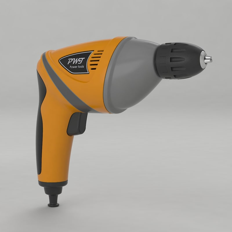drill power tool 3d 3ds