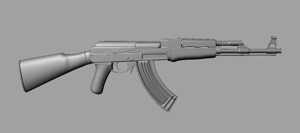 3d ak47 ak model