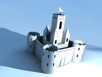 3d castle simple