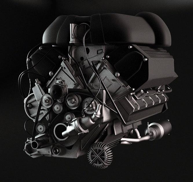 3dsmax engine gearbox