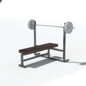 weight bench gym 3d model