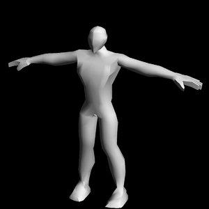 free adult male 3d model