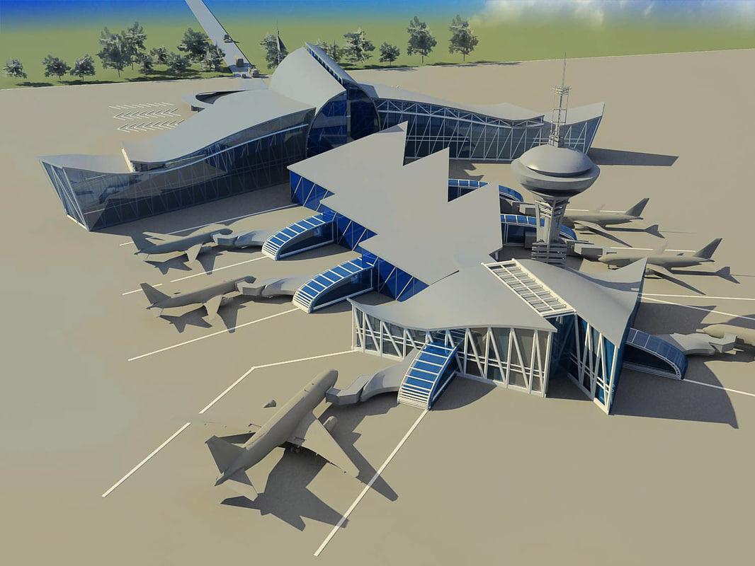 3d model airport