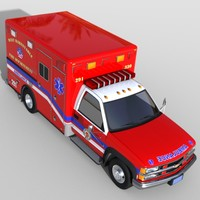 3d model chevrolet 2500 ambulance