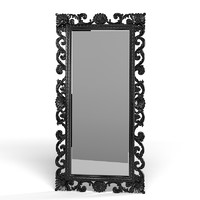 Floor mirror classic carved baroque big tall carving picture frame