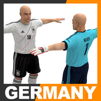 3d model football player - germany