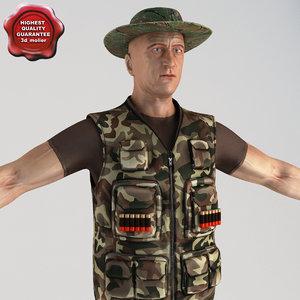 hunter games modelled 3d model