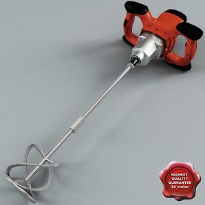 industrial electric hand mixer 3d model