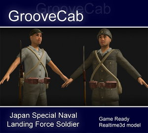 japanese soldier 3d max