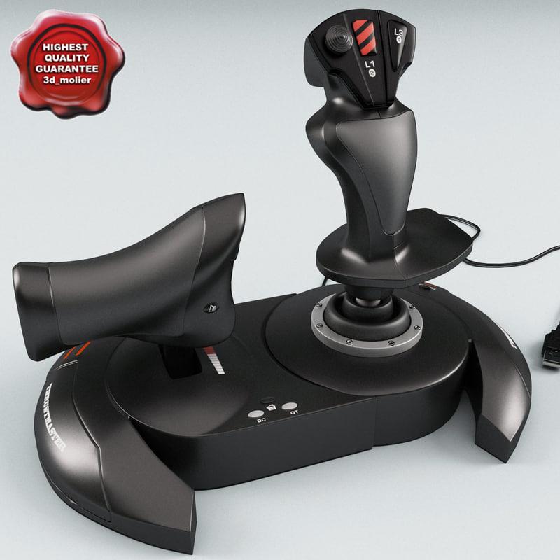 joystick thrustmaster t-flight 3d model