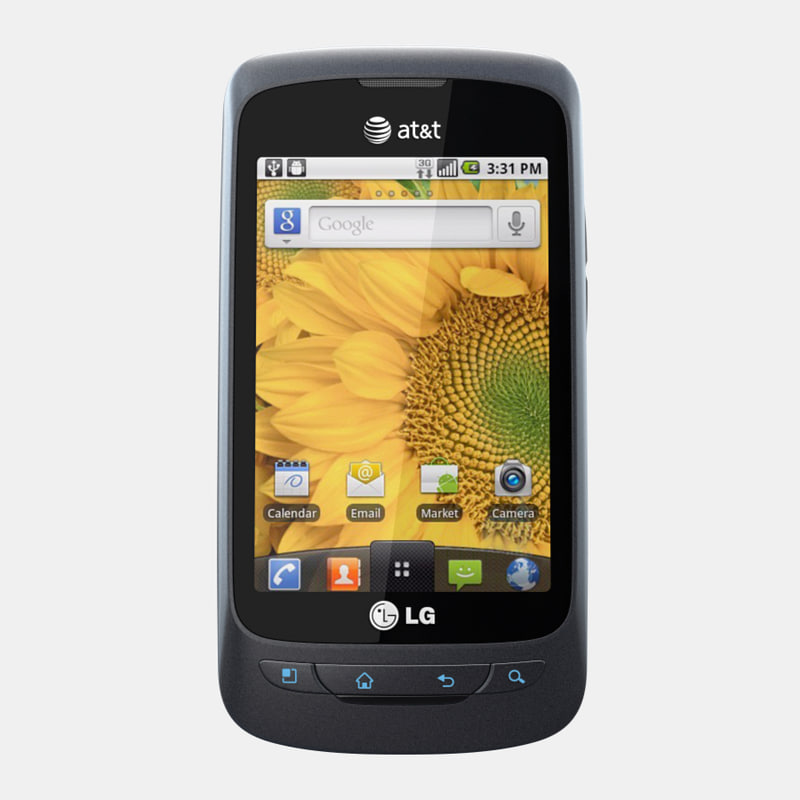 lg thrive mobile phone 3d 3ds
